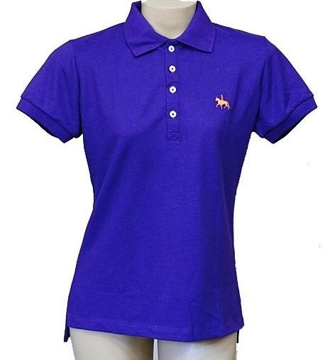 """Camisa Polo Feminina Roxa """"GG""""  - Boutique Mangalarga"""
