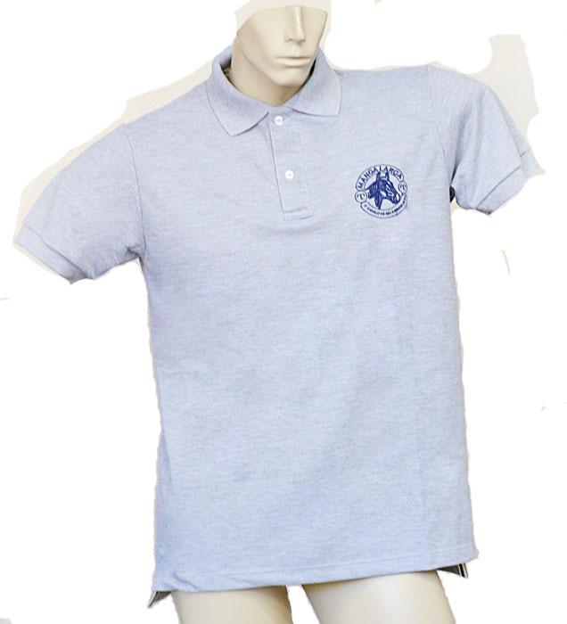 "Camisa Polo Masculina Cinza ""M""  - Boutique Mangalarga"