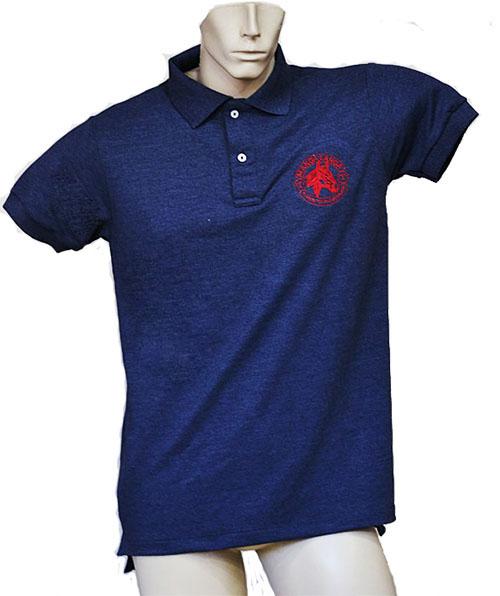 "Camisa Polo Masculina Azul ""G""  - Boutique Mangalarga"