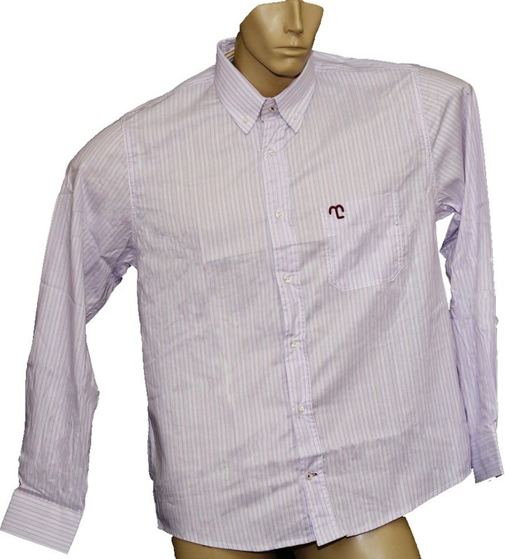 "Camisa Social Masculina Quadriculada Listrada Lilás ""GG""  - Boutique Mangalarga"