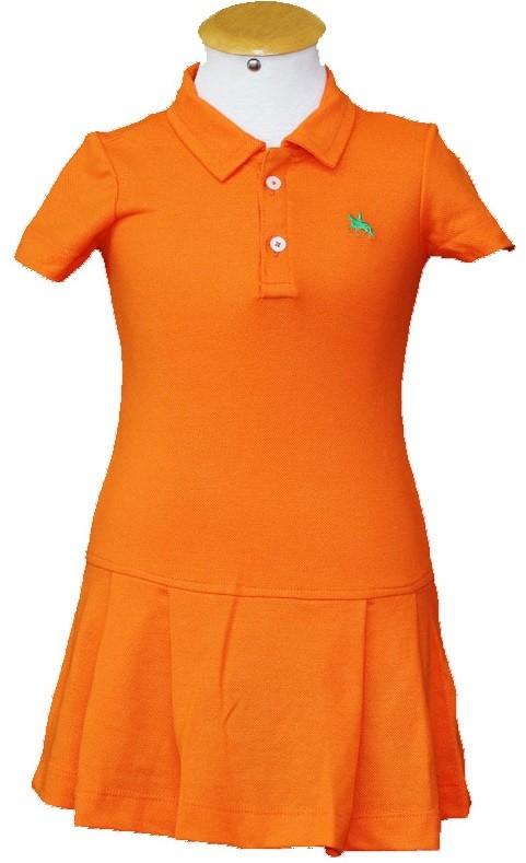 "Vestido Infantil Laranja ""6""  - Boutique Mangalarga"