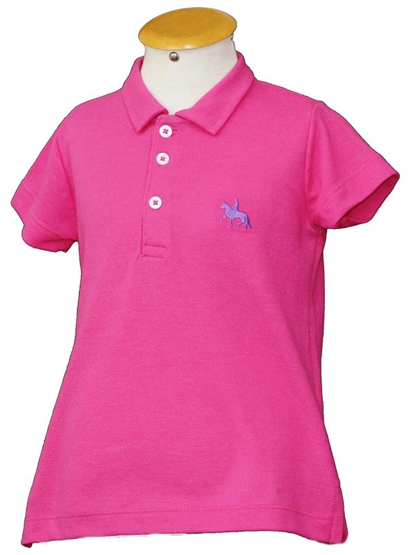 "Polo Infantil Pink ""6""  - Boutique Mangalarga"