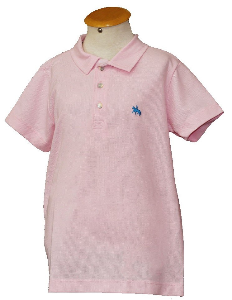 "Polo Infantil Rosa Claro ""10""  - Boutique Mangalarga"