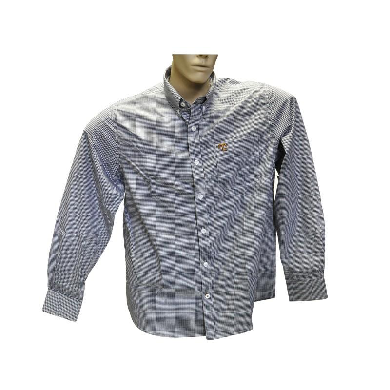 """Camisa Social Quadriculada Preta """"GG""""  - Boutique Mangalarga"""