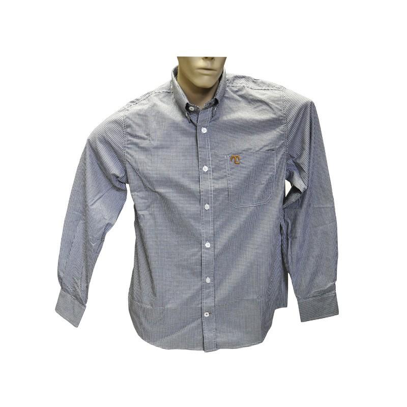 """Camisa Social Quadriculada Preta """"G""""  - Boutique Mangalarga"""