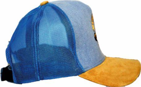 Boné Jeans Azul com Aba de Camurça  - Boutique Mangalarga