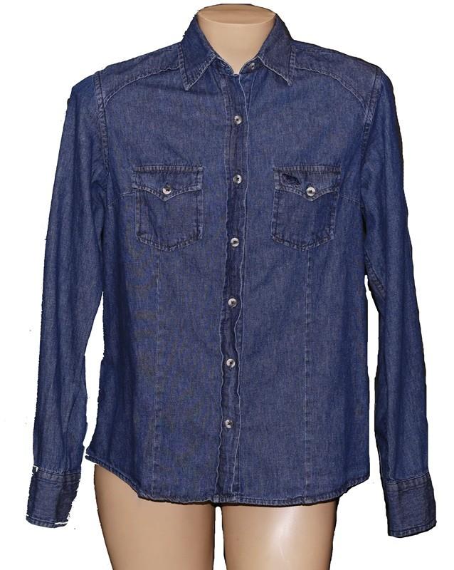 Camisa Jeans Feminina Escura  - Boutique Mangalarga