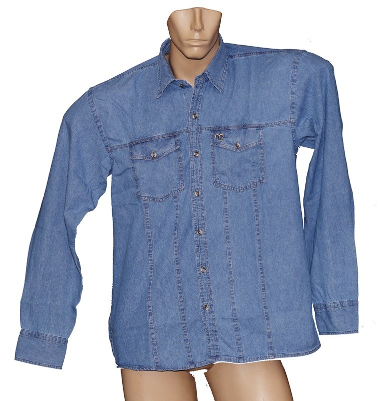 "Camisa Jeans Masculina Clara ""GG""  - Boutique Mangalarga"
