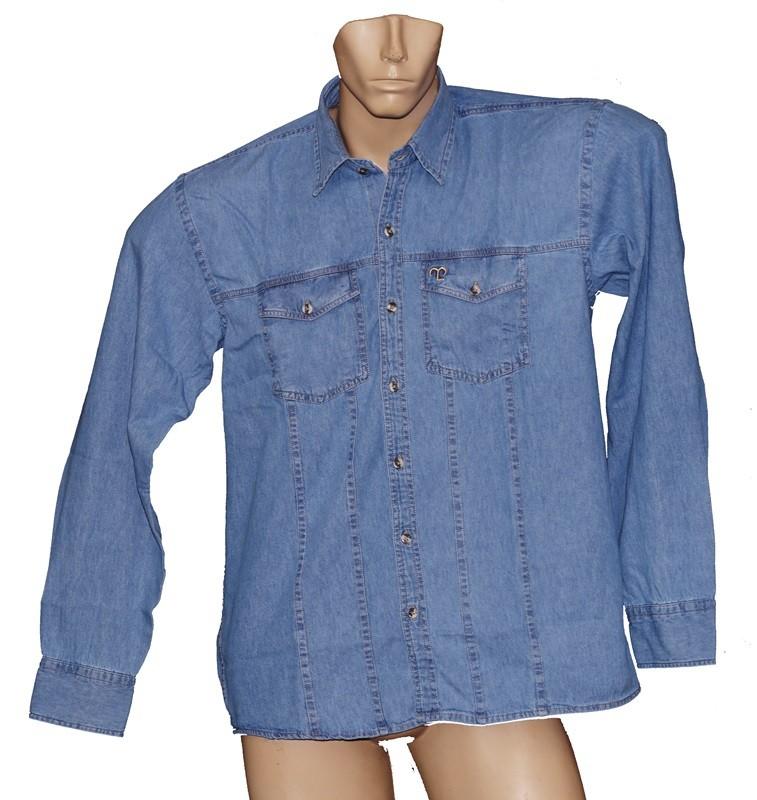 "Camisa Jeans Masculina Clara ""M""  - Boutique Mangalarga"