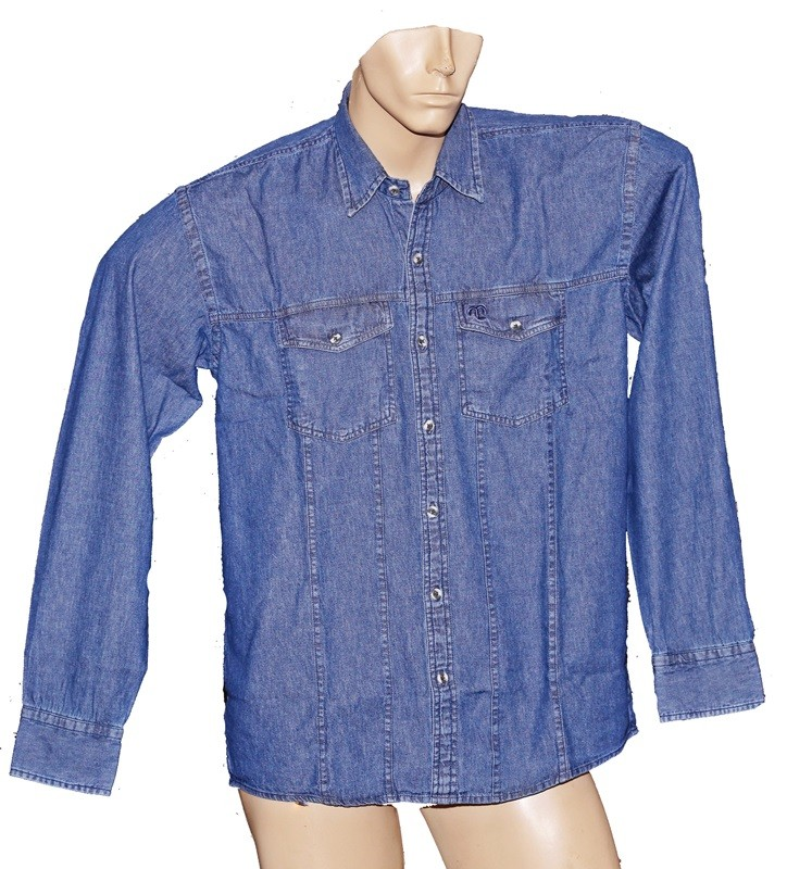 "Camisa Jeans Masculina ""G""  - Boutique Mangalarga"