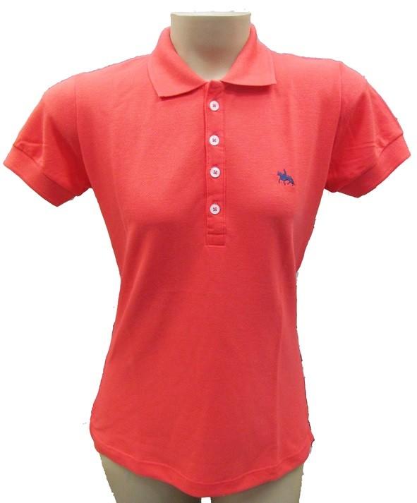 "Camisa Polo Feminina Salmão ""P""  - Boutique Mangalarga"