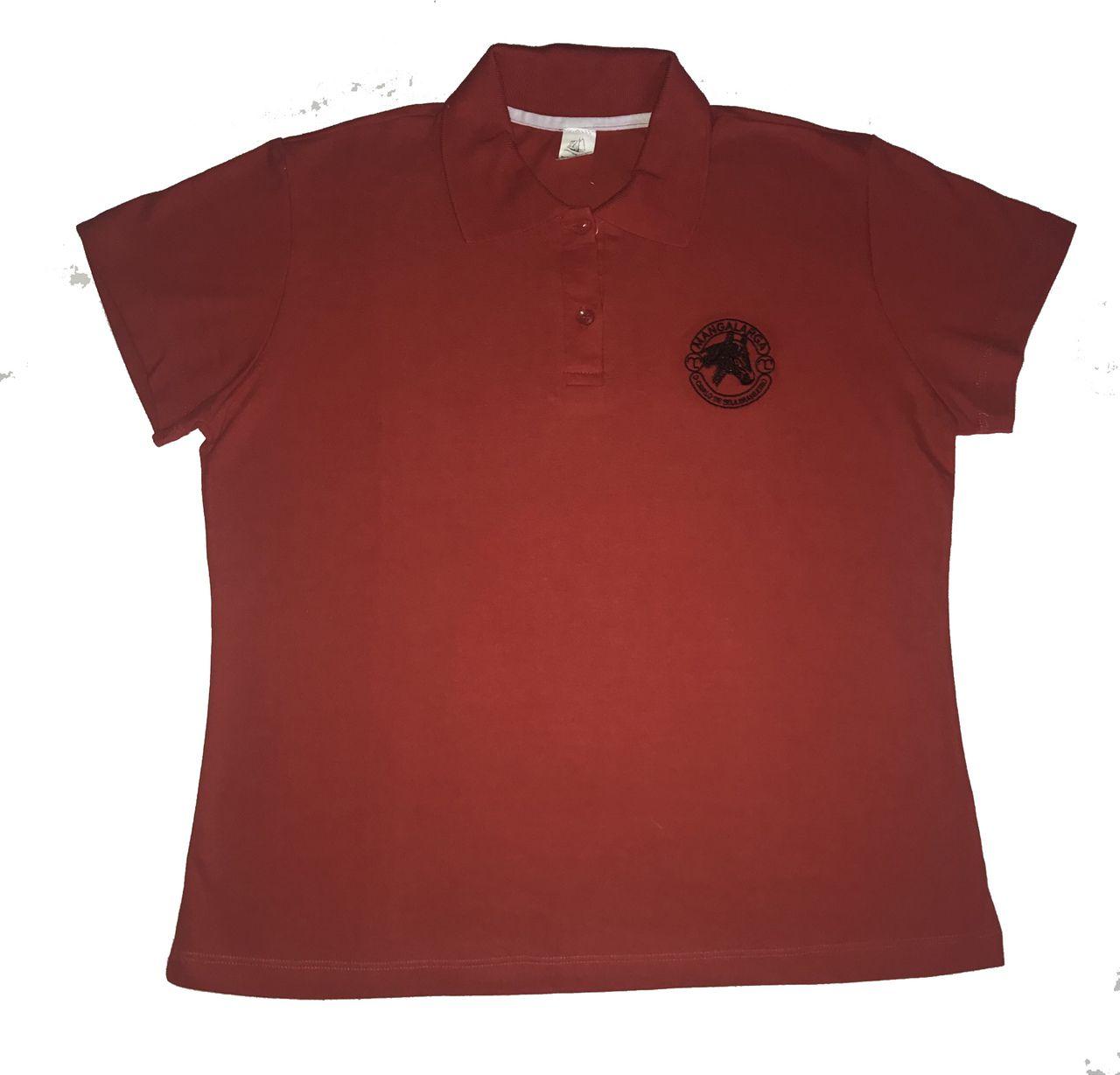 Camisa Polo Feminina Vermelha Logo Mangalarga  - Boutique Mangalarga