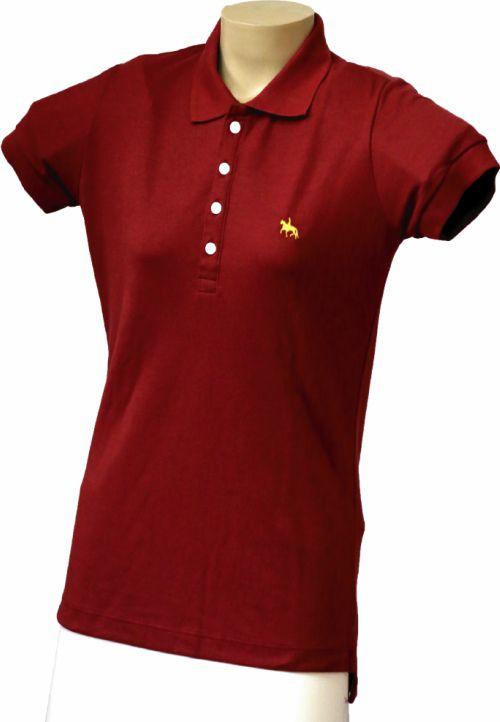 Camisa Polo Feminina Vinho  - Boutique Mangalarga