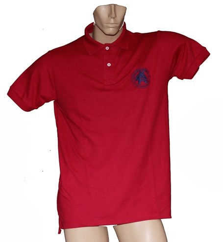 "Camisa Polo Masculina Vermelha ""M""  - Boutique Mangalarga"