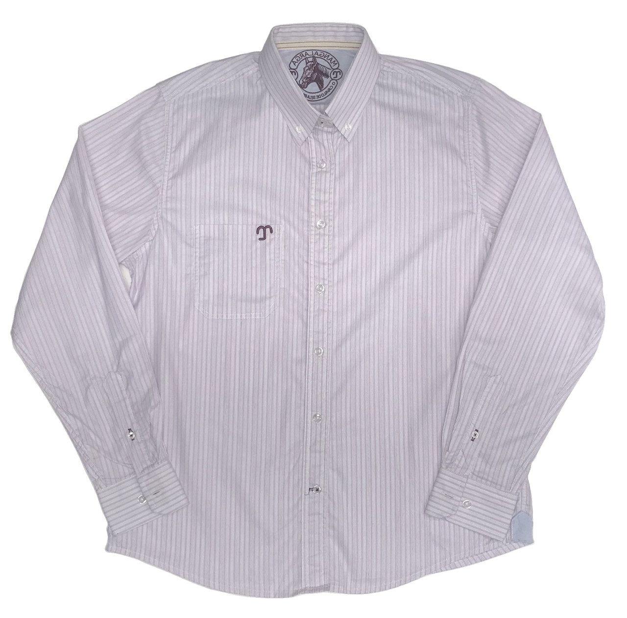 Camisa Social Masculina Listrada Rosa  - Boutique Mangalarga