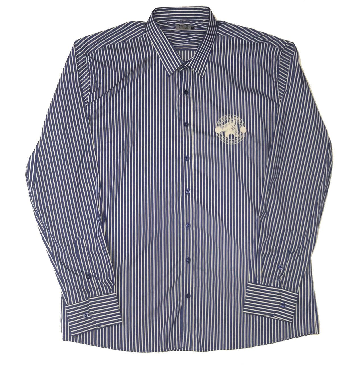 Camisa Top Premium Masculina Listras Azul  - Boutique Mangalarga