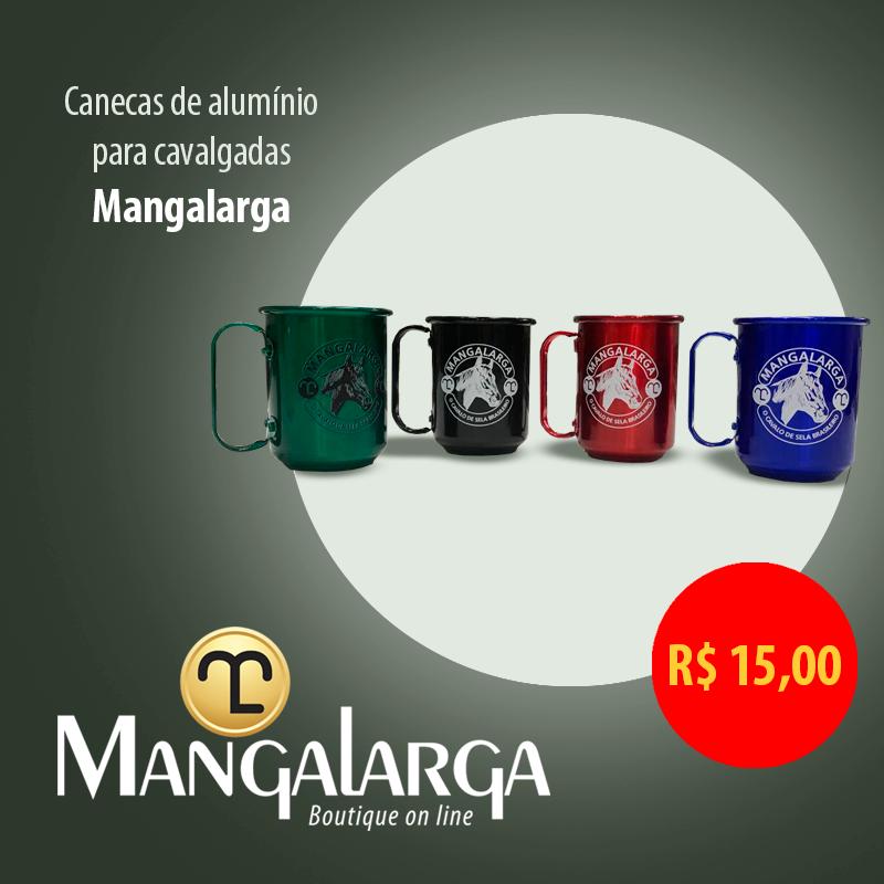 Caneca Alumínio Mangalarga  - Boutique Mangalarga