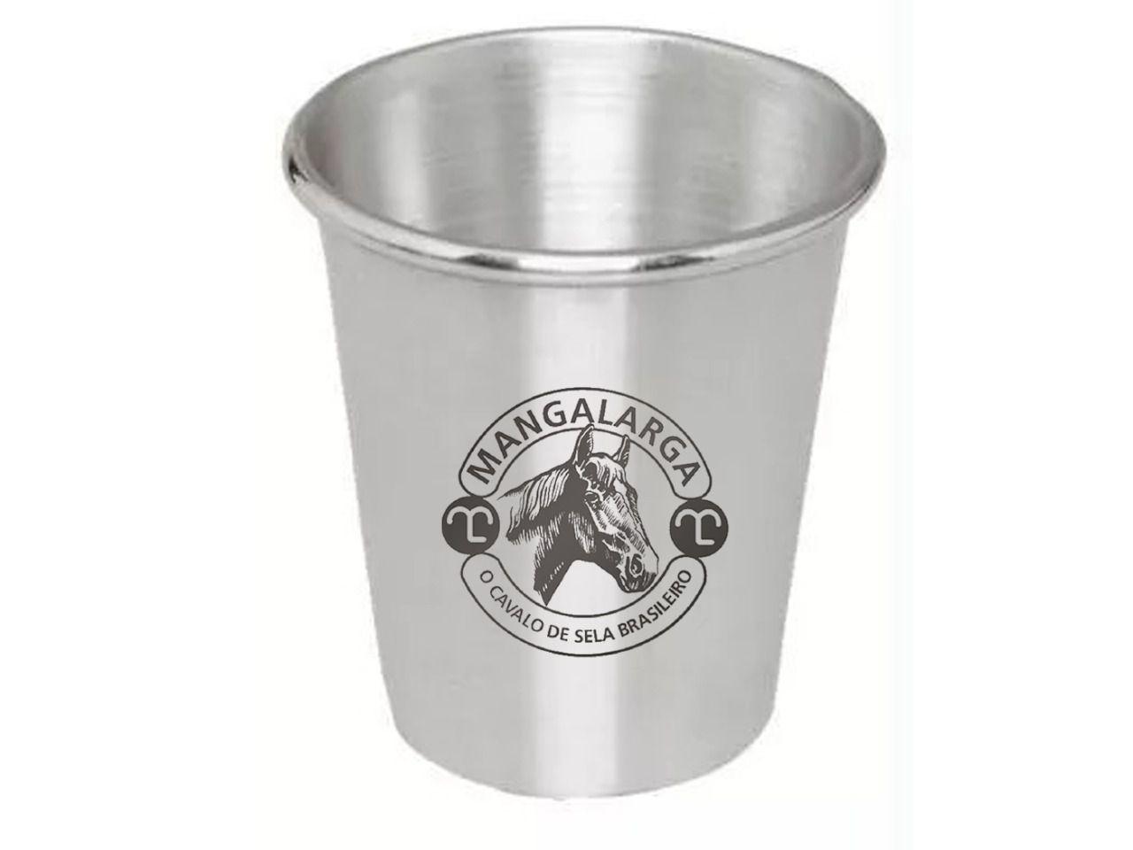 Copo Alumínio Mangalarga  - Boutique Mangalarga