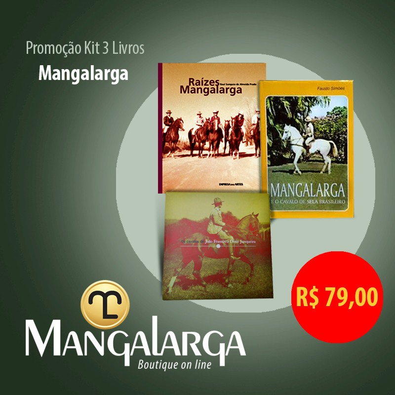 Kit 3 Livros Mangalarga  - Boutique Mangalarga