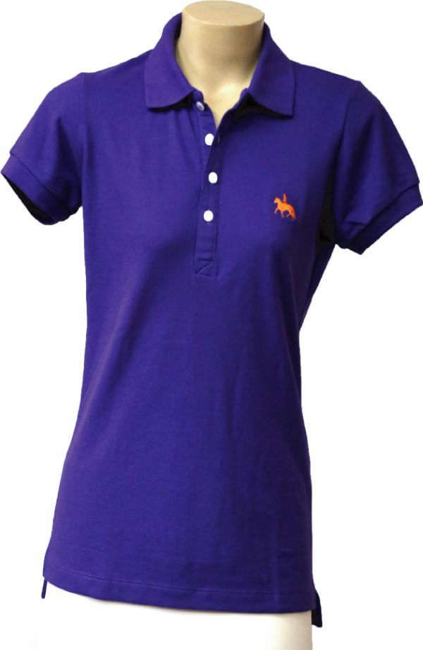 Camisa Polo Feminina Roxa  - Boutique Mangalarga