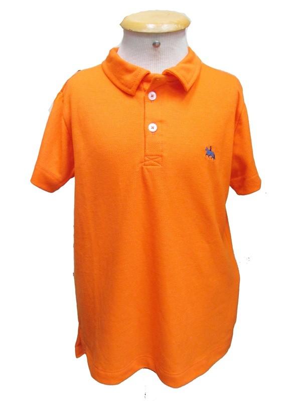 "Polo Infantil Laranja ""8""  - Boutique Mangalarga"