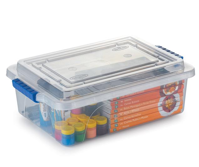 Caixa Organizadora Transparente 10 Litros  - Eu Organizo