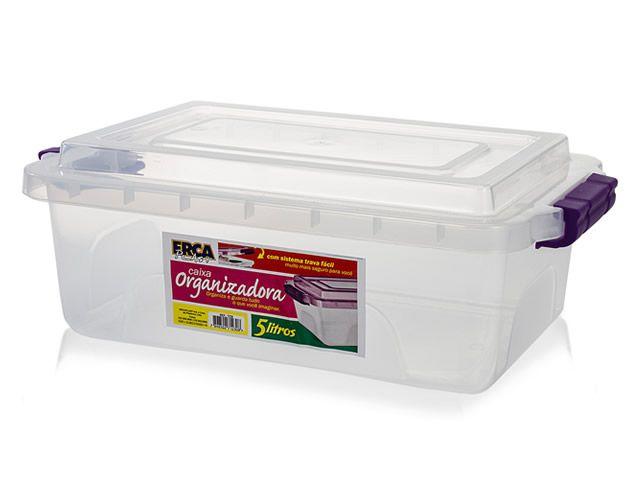 Caixa Organizadora Transparente - 5 Litros  - Eu Organizo