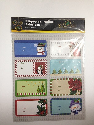 Etiqueta Adesiva Natal - 24 unidades  - Eu Organizo