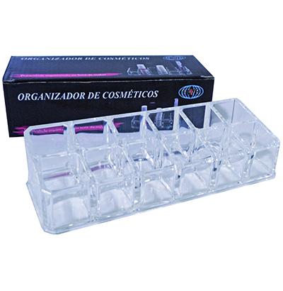 Porta Batom e Cosméticos - 12 Divisões  - Eu Organizo