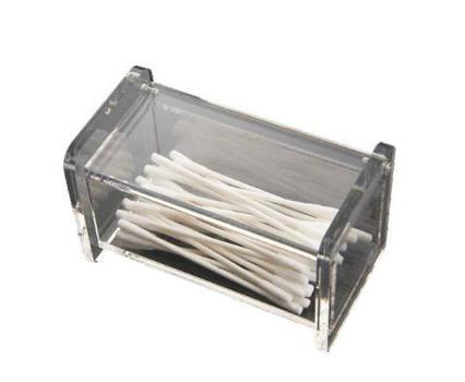 Porta Cotonetes de Acrílico - Modelo 2  - Eu Organizo