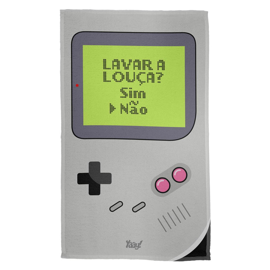 Pano de Prato Game Boy Lavar a Louça
