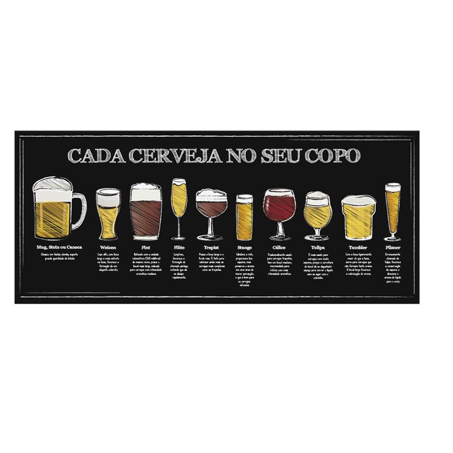 Quadro Cerveja Copos - Cada Cerveja no Seu Copo