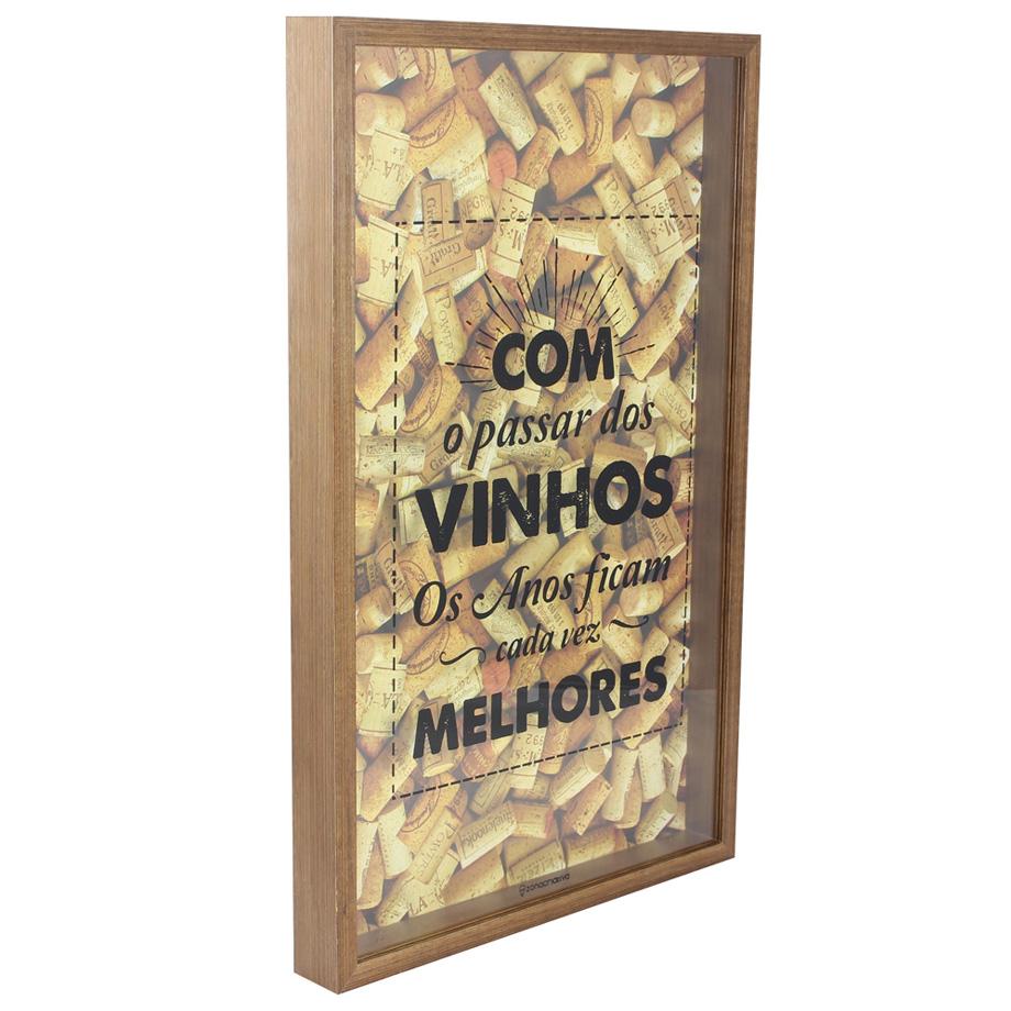 Quadro Coleção Porta Rolhas Vinhos Melhores