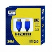 Cabo MXT Hdmi 4K Ultra Hd c/ Filtro 26AWG Dourado 20 Metros