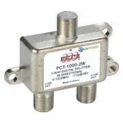 Divisor De Sinal 1x2 Frequência 5-1002Mhz 1 Giga Bi Direcional UHF e Net PCT