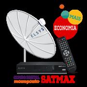 Kit Receptor SatMax + Parabólica 1,90 Monoponto + Cabo
