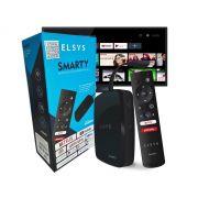 Smarty Conversor Smart Web TV Elsys Android Netflix Youtube Google Assistente Certificação Anatel