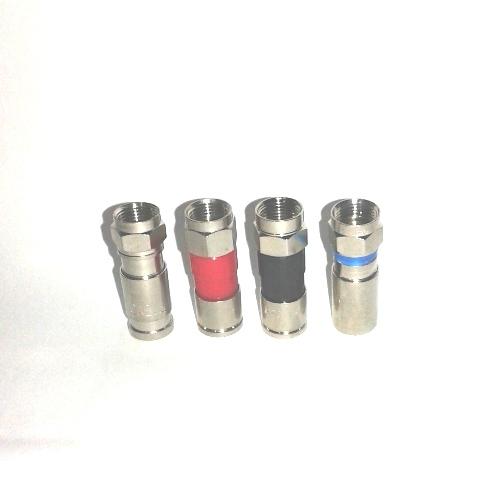 Conector Rg6 De Compressão Profissional Pressão 50 pçs