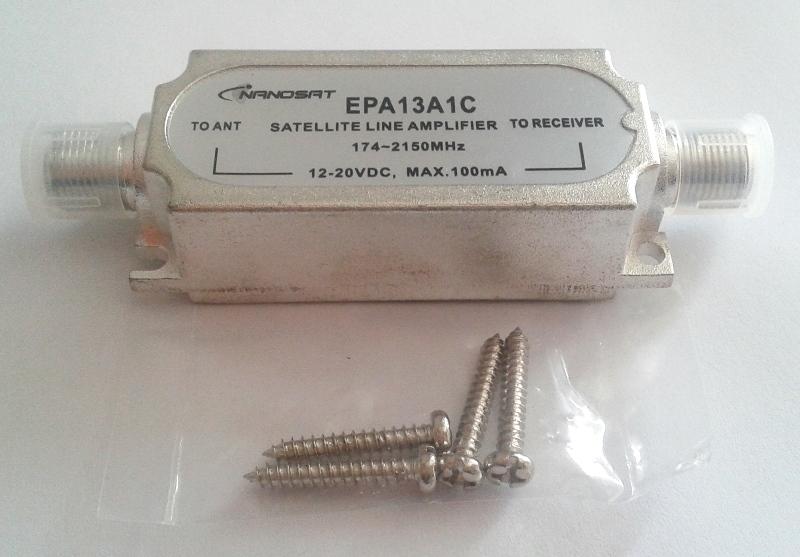 Amplificador de Linha Sat 20dB MHz Nanosat