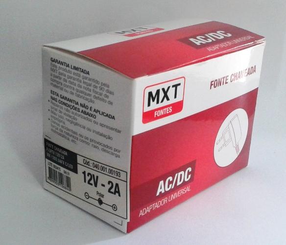 Fonte Estabilizada Chaveada Mxt Para Cftv 12V-2A Com Led