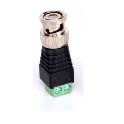 Conector Bnc Macho Com Borne CFTV Pacote com 5 peças