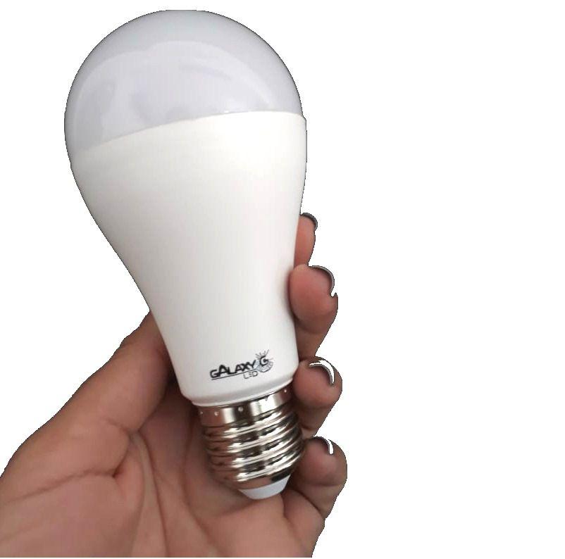 Lâmpada Bulbo A65 LED 15W Bivolt GalaxyLED Quente 3000k