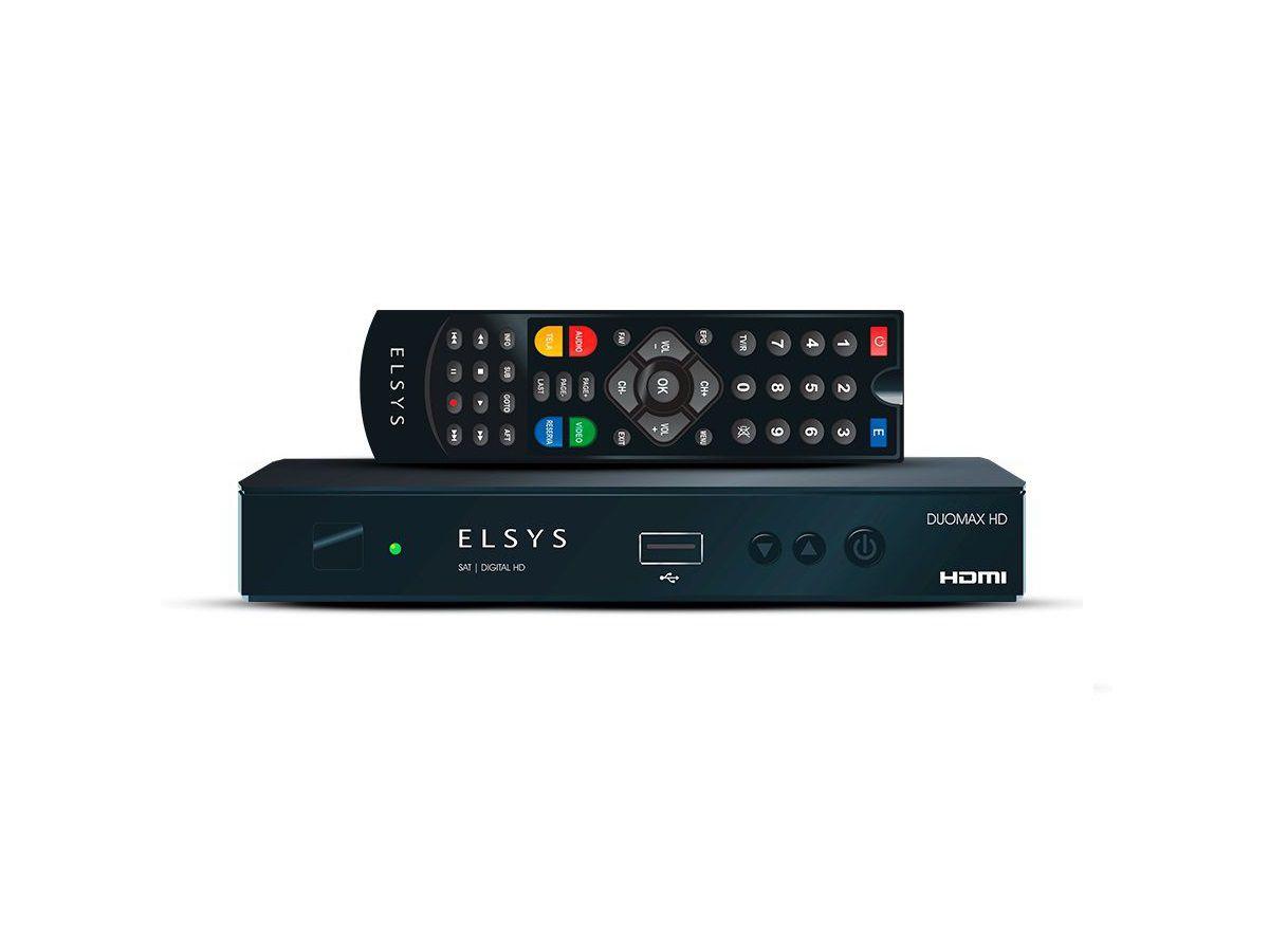 Receptor Parabólica Digital e Analógico Elsys Duomax Hd Full Hd 1080Linhas ETRS50