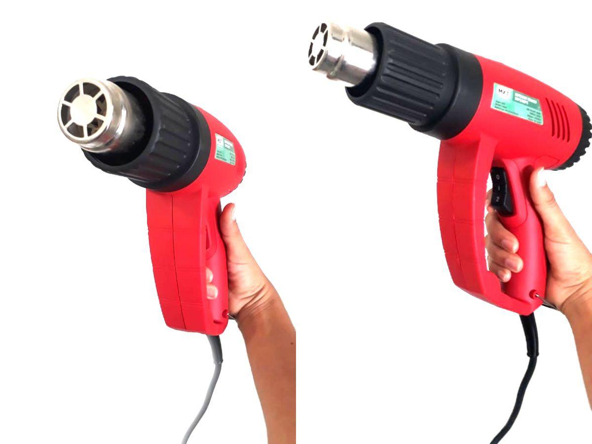Kit Soprador Térmico 1800w Com Maleta E Ajuste De Temperatura 350 A 650 Mxt - 220v