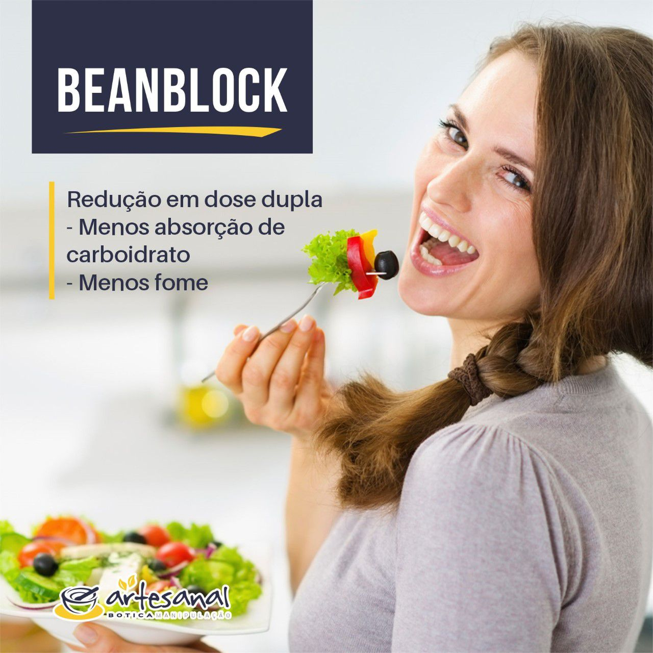 Beanblock® 100mg - 60 Cápsulas - Artesanal Botica