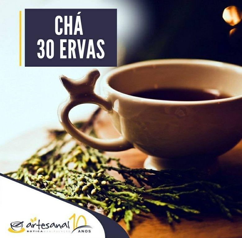 Chá 30 Ervas - 60 Cápsulas