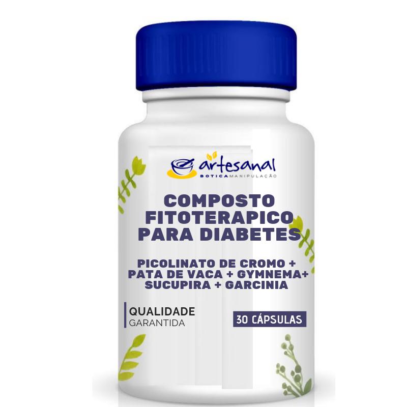 Composto Fitoterápico para Diabetes - 30 cápsulas