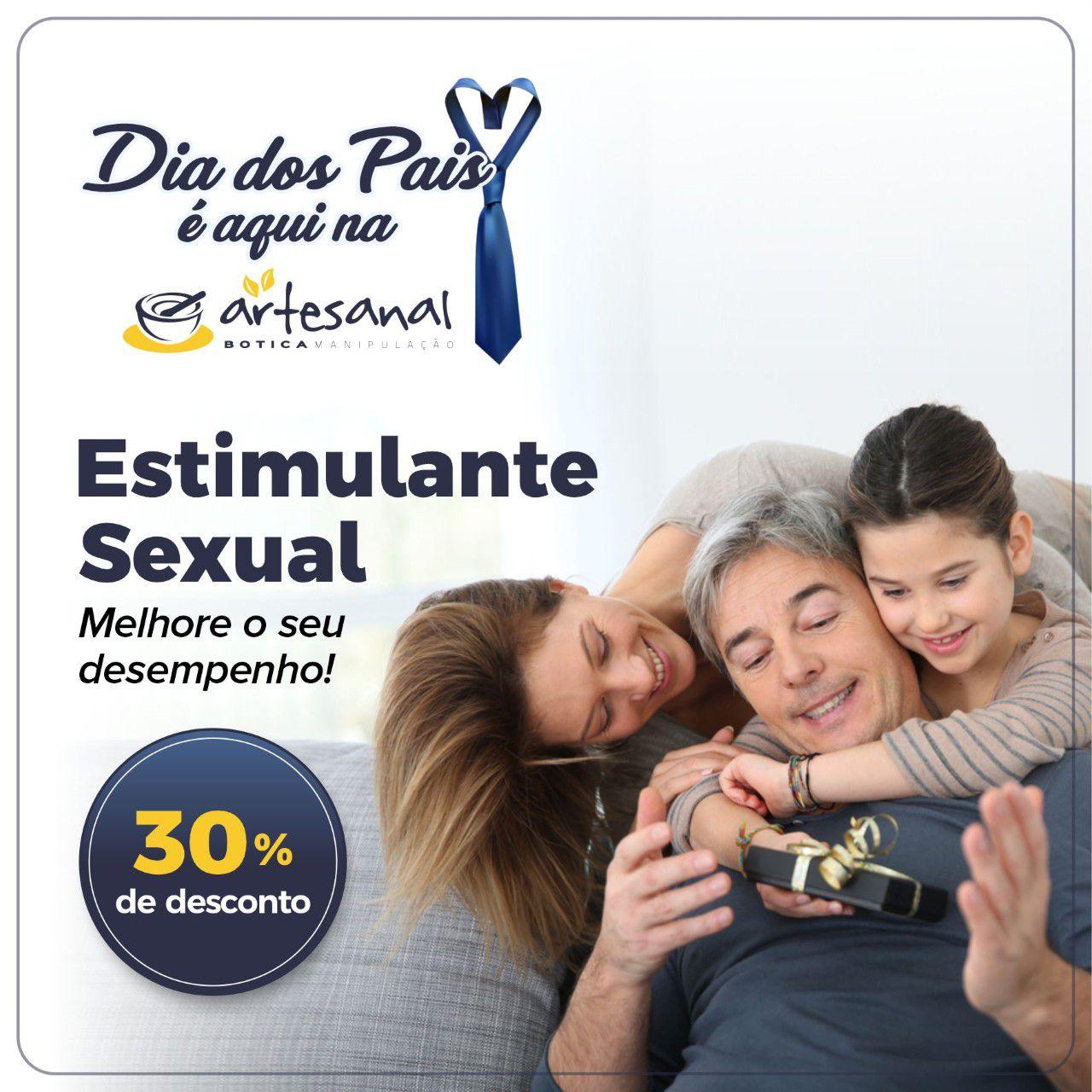 Estimulante Sexual Masculino - 30 Cápsulas