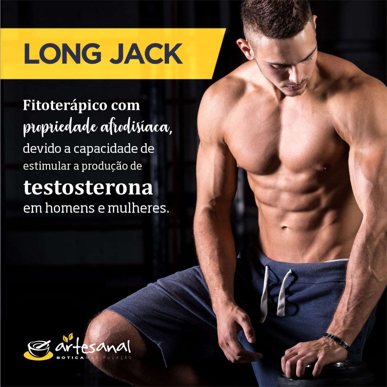 Long Jack 200mg - 60 Cápsulas