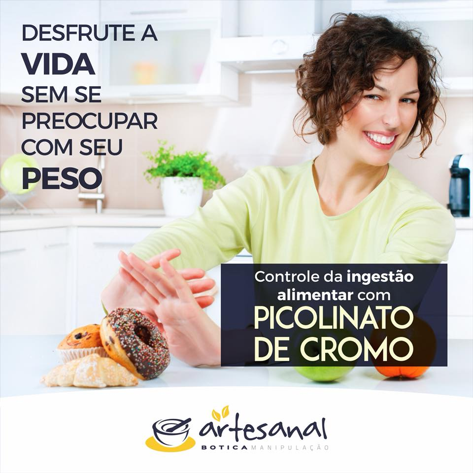 Picolinato de Cromo 500mcg - 60 Cápsulas